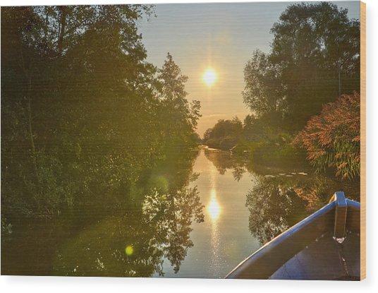 Loosdrecht Boat Trip Wood Print