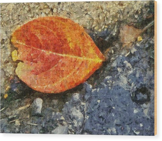 Loose Leaf Wood Print