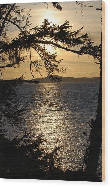 Lopez Island Sunset Wood Print