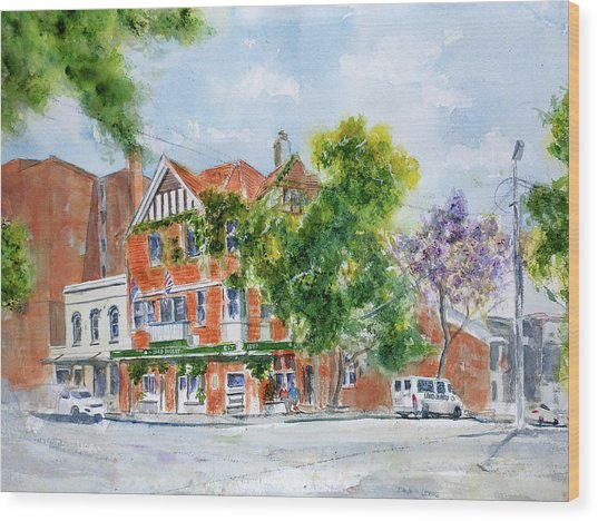 Lord Dudley Hotel Wood Print