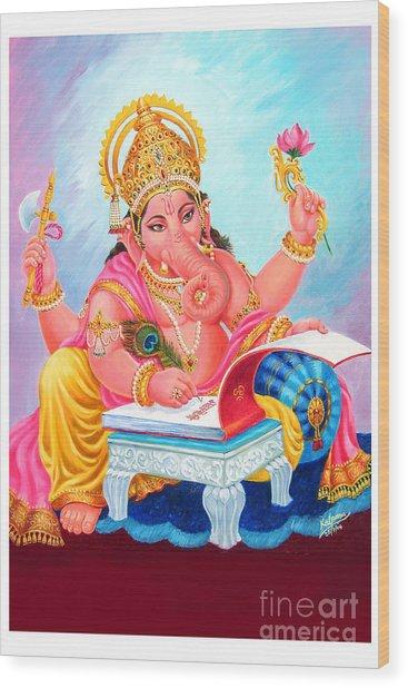Lord Ganesh Wood Print by Kalpana Talpade Ranadive