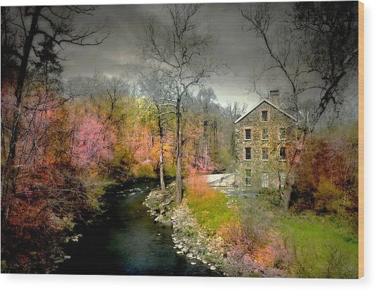 Lorillard Mill Wood Print