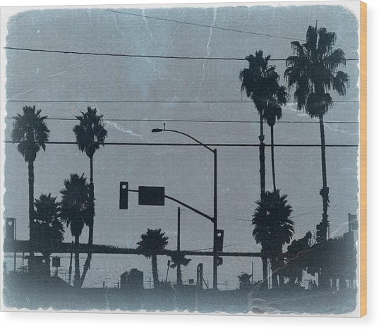 Los Angeles Wood Print