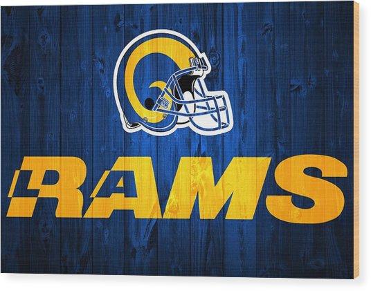 Los Angeles Rams Barn Door Wood Print