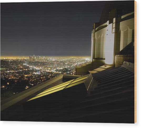 Los Angeles Skyline From The Griffith Observatory Wood Print