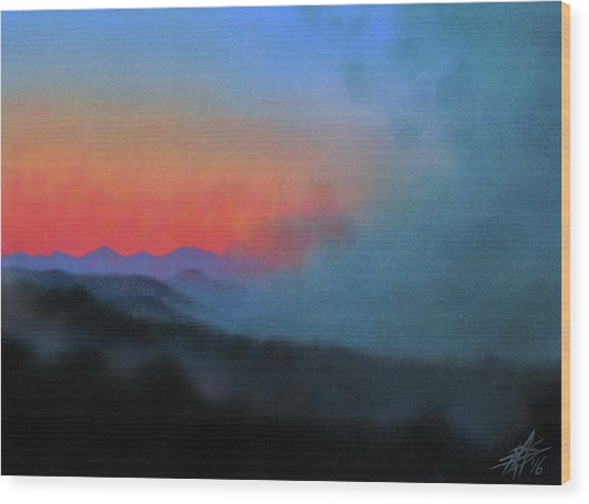 Los Penasquitos Canyon Xiii--coastal Fog At Dawn Wood Print by Robin Street-Morris