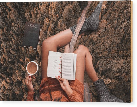 Lose Yourself In A Good Book Wood Print