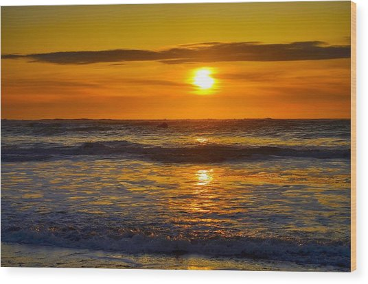 Lost Coast Sunset Wood Print