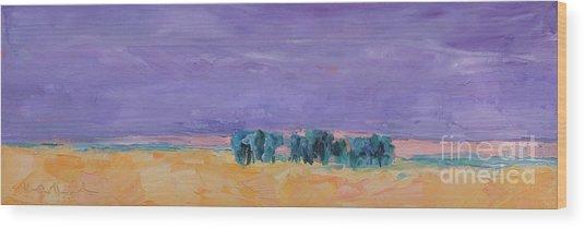 Lost Horizon Wood Print by Marsha Heimbecker