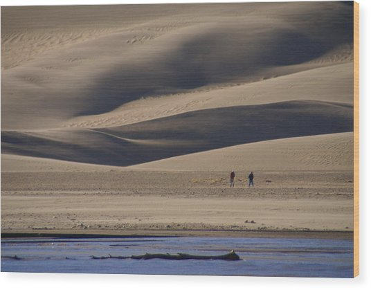 Lost In The Great Sand Dunes Wood Print