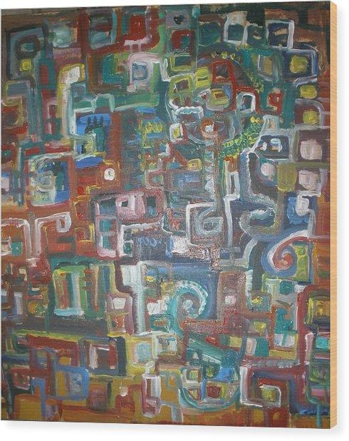 Lost In The Labyrinth Wood Print by Philip Arnzen-Jones