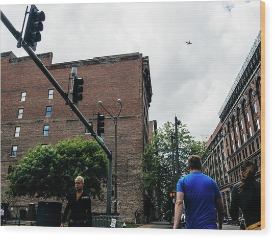 Lost In The Shuffle. St. Louis Street Photography Wood Print by Dylan Murphy