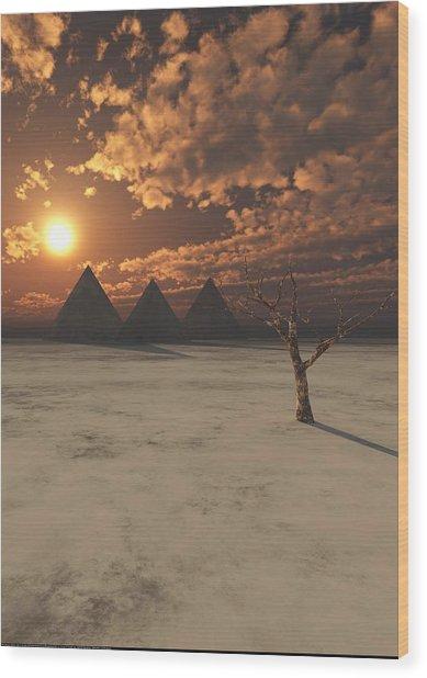 Lost Pyramids Wood Print