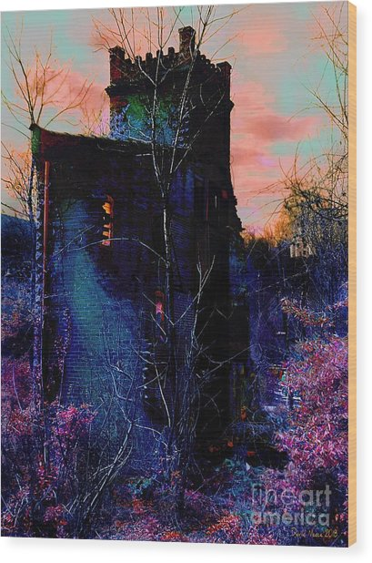 Lost Tower Of The Blue King Wood Print