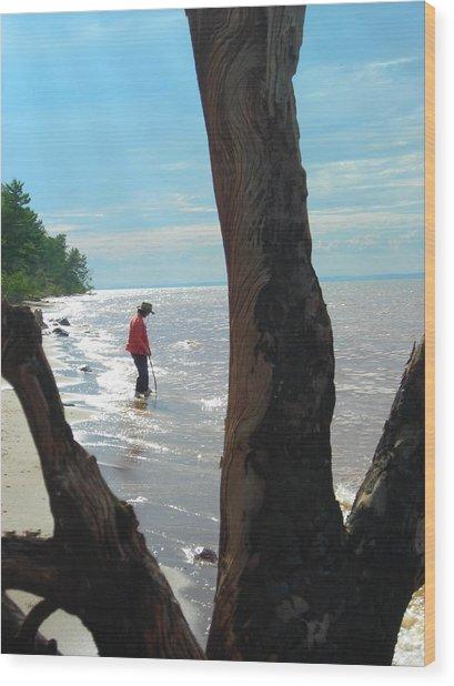 Lost Woman Wood Print by Peter Mowry