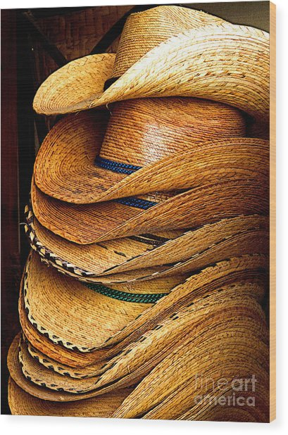 Lots Of Hats Wood Print by Mexicolors Art Photography