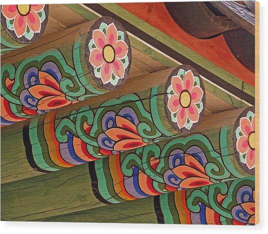 Lotus Beams Wood Print