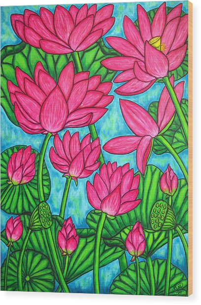 Lotus Bliss Wood Print