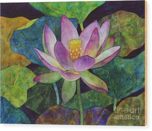 Lotus Bloom Wood Print