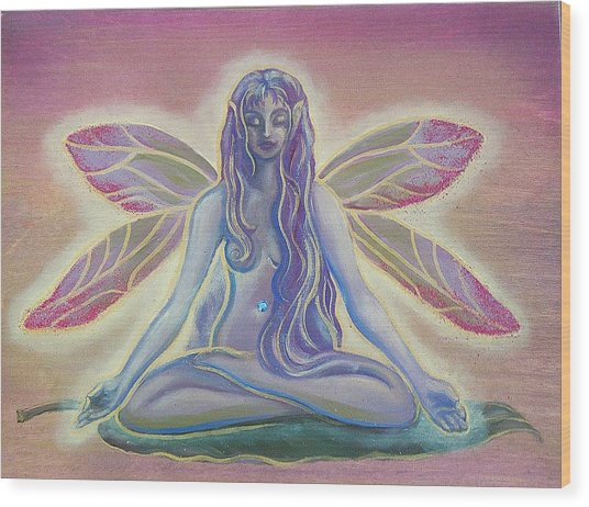 Lotus Faerie Wood Print