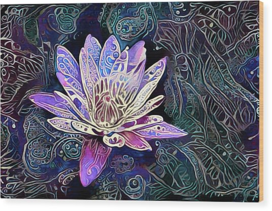 Lotus From The Mud Wood Print