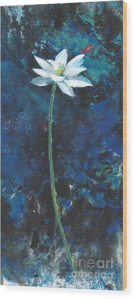 Lotus IIi Wood Print by Mui-Joo Wee
