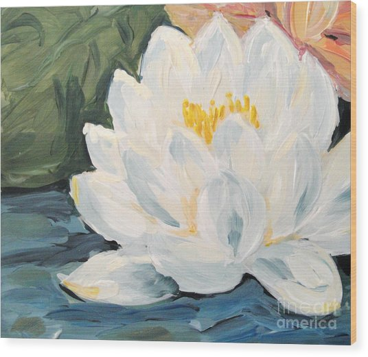 Wood Print featuring the painting Lotus by Maria Langgle