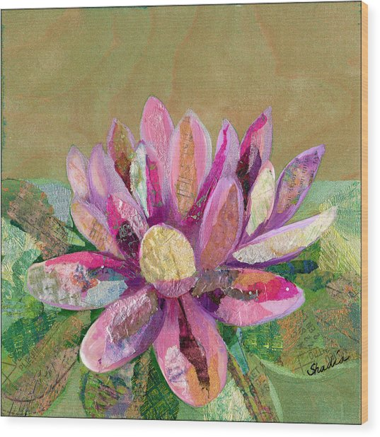Lotus Series II - 2 Wood Print