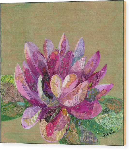 Lotus Series II - 4 Wood Print