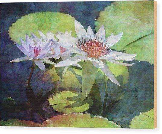 Lotus Trio 2923 Idp_2 Wood Print
