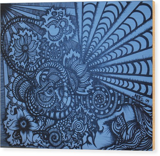 Lotus Vibrations  Wood Print by Mike OKeefe