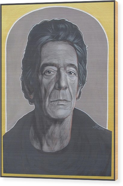 Lou Reed Wood Print