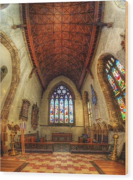 Loughborough Church - Altar Vertorama Wood Print