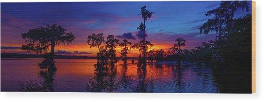 Louisiana Blue Salute Reprise Wood Print