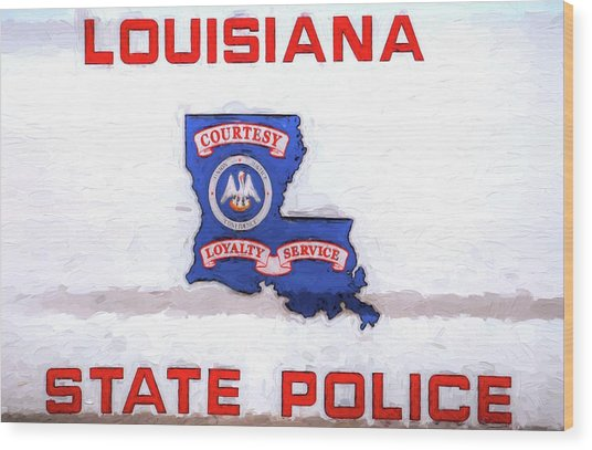 Louisiana State Police Wood Print by JC Findley