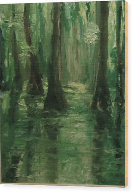 Louisiana Swamp Wood Print