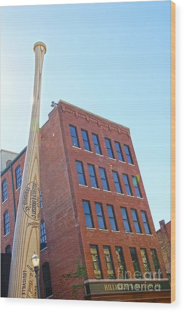 Louisville Slugger Museum Wood Print by Nur Roy