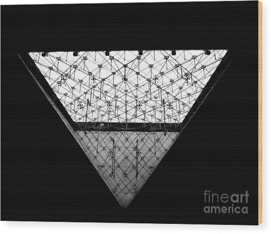 Lourve Pyramid Wood Print