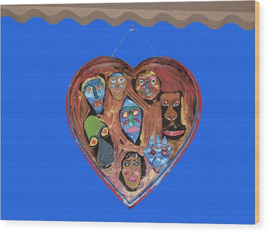 Lovable Funny Faces Wood Print by Betty  Roberts