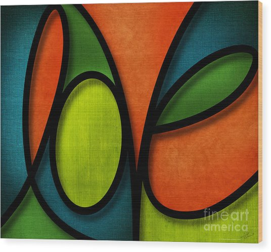 Love - Abstract Wood Print