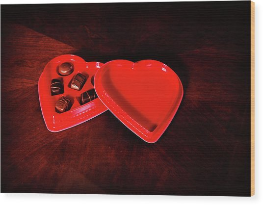 Love And Chocolate Wood Print
