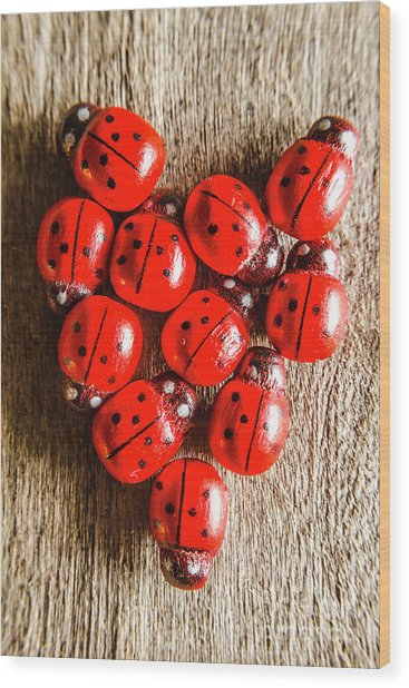Love Bug Wood Print