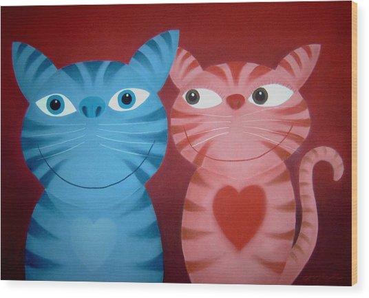 Love Catz Wood Print