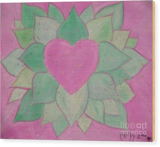 Love Flowers Wood Print by Sacred  Muse