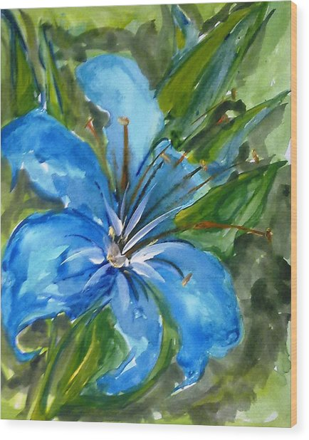 Love Flowerts Wood Print by Baljit Chadha