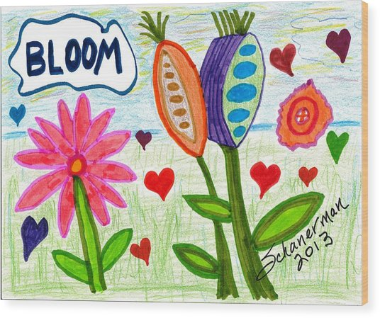 Love In Bloom Wood Print