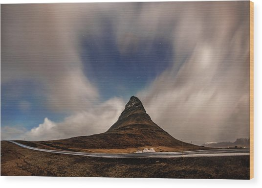 Wood Print featuring the photograph Love In Nature Over Kirkjufell by Pradeep Raja PRINTS