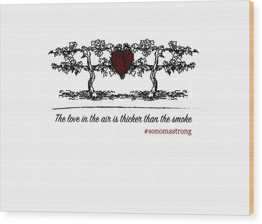 Love In The Air Wood Print