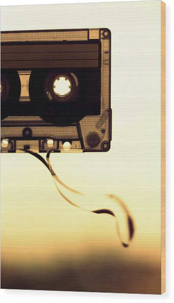Love Is A Mixed Tape Wood Print by Taryn