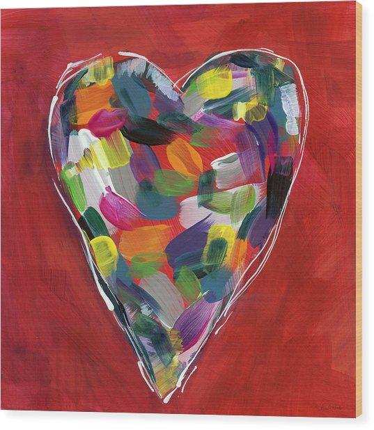 Love Is Colorful - Art By Linda Woods Wood Print